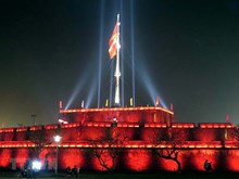 Hue lights up historic flag tower