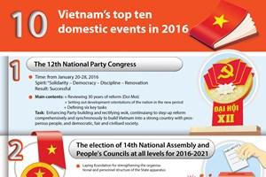Vietnam's top ten domestic events in 2016