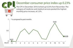 December's CPI up 0.23%