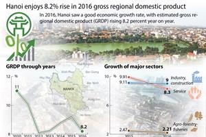 Hanoi enjoys 8.2 percent rise in 2016 GRDP
