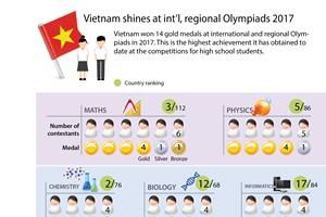 Vietnam shines at int'l, regional Olympiads 2017