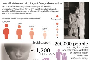 Joint efforts to ease pain of Agent Orange/dioxin victims