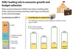 SOEs' leading role in economic growth and budget collection