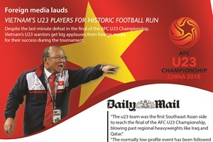 Foreign media lauds Vietnam's U23 players for historic football run