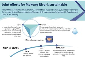 Joint efforts for Mekong River's sustainable development