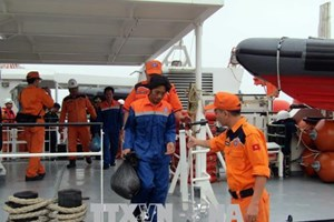 Vietnamese sailors on Malaysian sunk ship rescued