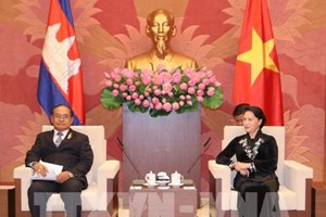 Vietnam, Cambodia legislators pledge to boost ties