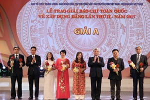 Winners of second press contest on Party building announced