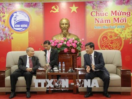 Cambodian religions ministry's delegation visits Binh Duong