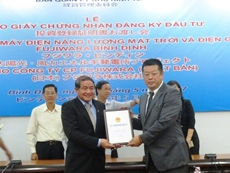 100MW wind-solar power project underway in Binh Dinh