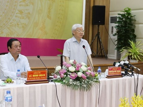 Party chief inspects Dong Thap's socio-economic development
