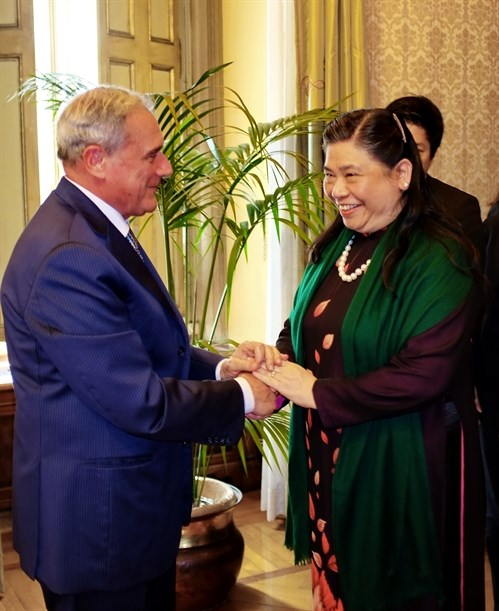 Italian senate supports fta with vietnam vietnam vietnamplus italian senate president pietro grasso l receives vice chairwoman of the vietnamese national assembly tong thi phong source vna m4hsunfo