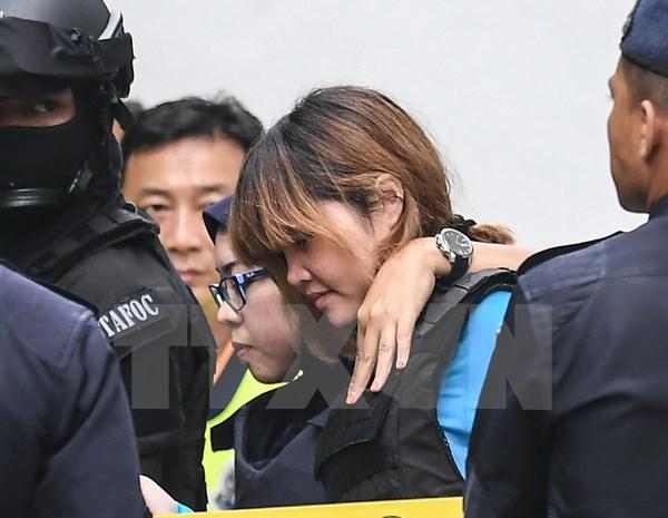 Doan Thi Huong pleads not guilty in murder of DPRK national